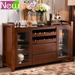 新中式餐边柜实木家用橱柜现代简约客厅酒柜储物柜厨房边柜茶水柜