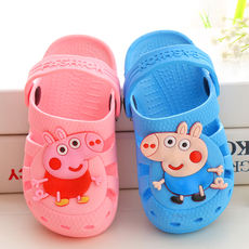 Children's sandals summer men and women slippers size children's shoes cartoon non-slip soft baby home shoes new sandals