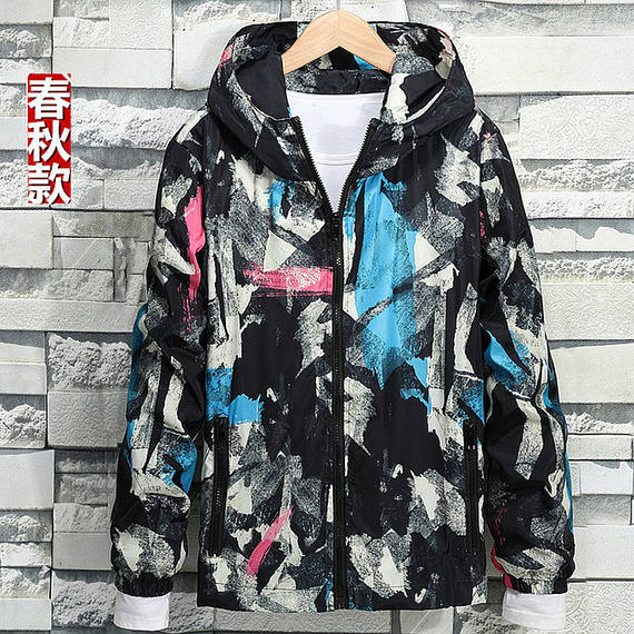 Spring camouflage jacket men plus fertilizer XL couple models trend fat shirt jacket fat handsome spring dress