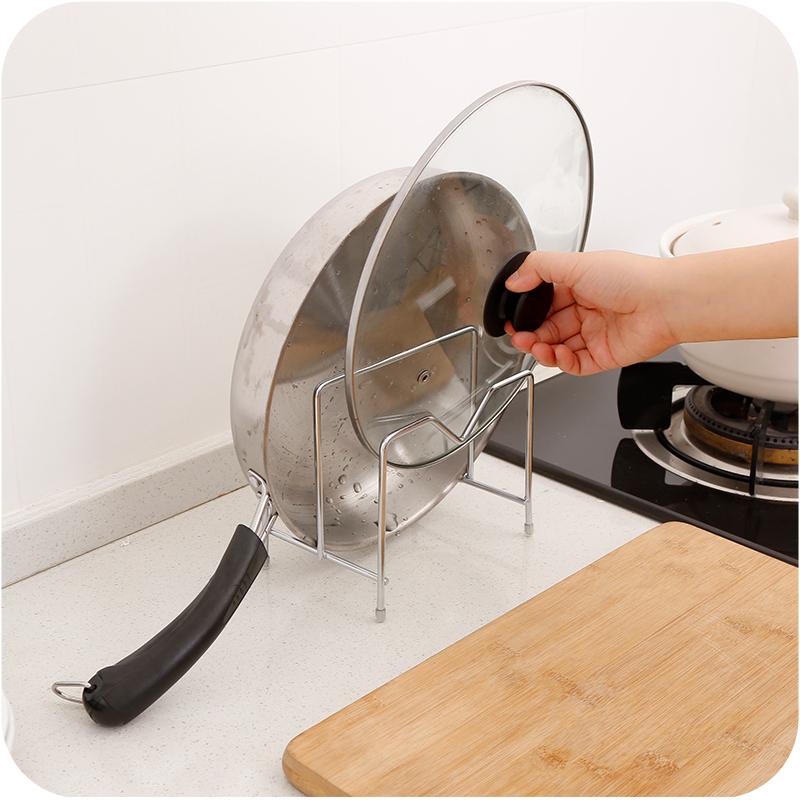 不锈钢厨房放锅盖的架子锅盖架壁挂式坐式免打孔菜板架砧板架家用