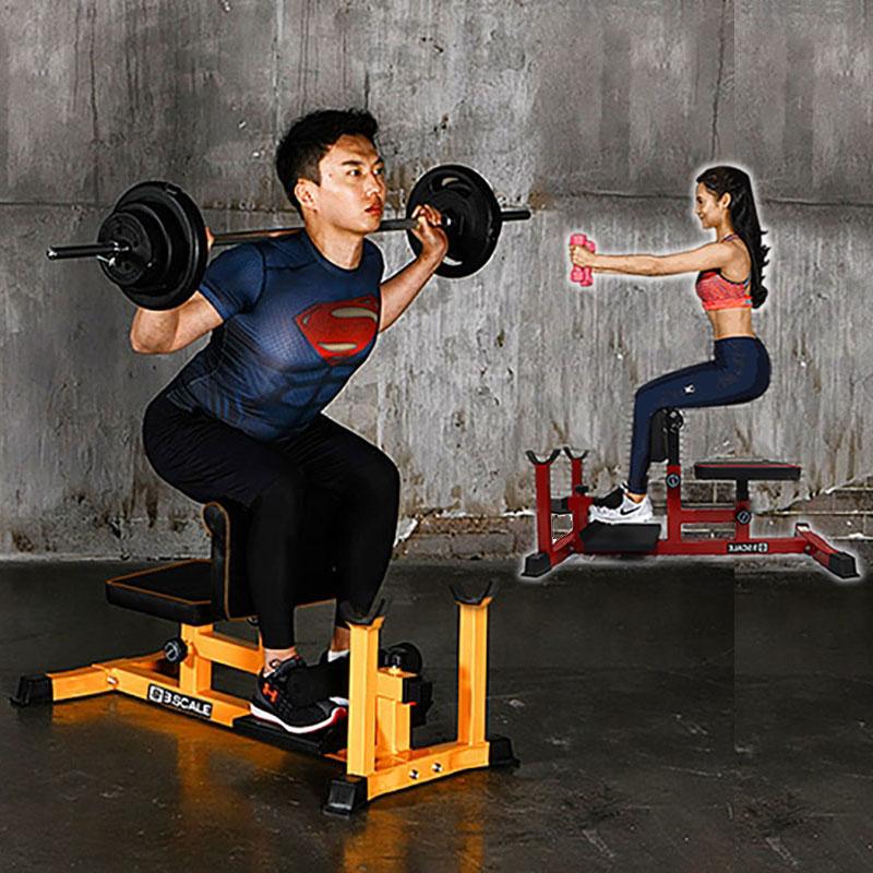 深蹲腹肌训练器姑娘蹲仰卧卷腹臀部训练器勾腿机蹲起凳提臀练腿机