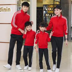 春秋季情侣运动套装男女两件套休闲套装运动跑步衣运动服套装亲子