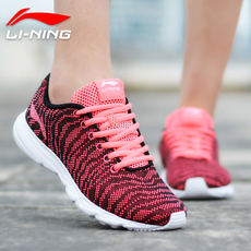 Li Ning women's shoes running shoes 2018 spring and summer new net shoes breathable mesh running shoes casual shoes ladies sports shoes