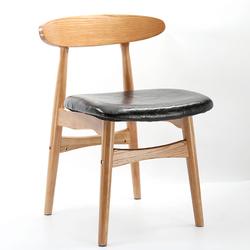 实木餐椅成人休闲咖啡厅椅餐厅椅子靠背北欧布艺现代简约书桌椅凳