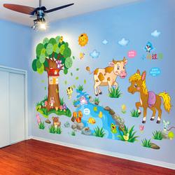 儿童房墙贴纸贴画卡通可爱男孩卧室房间幼儿园装饰墙壁自粘墙纸