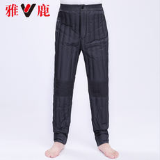 Yalu down pants men in the elderly thick warm trousers inside and outside wear trousers winter father loaded duck down liner