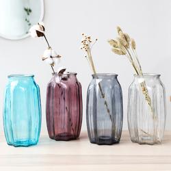 家用欧式家居装饰插花瓶摆件客厅干花插花透明玻璃瓶绿萝植物瓶子
