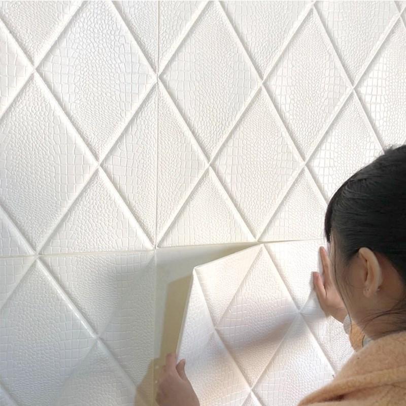 墙纸3d立体墙贴防潮防霉墙面翻新泡沫吊顶天花板装饰自粘壁纸防水