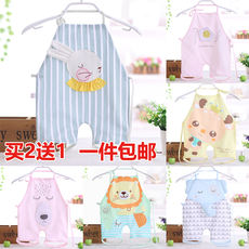 Baby even foot apron baby apron protective belly around the cotton four seasons universal apron newborn round summer thin section