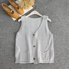 N4-4 Three Pieces Spring and summer new V-neck Sleeveless Top Cardigan Sweater Vest 39453