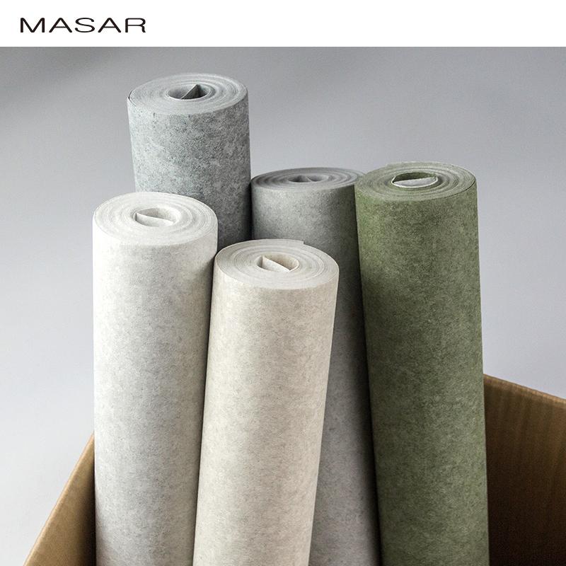 MASAR玛撒5.3㎡/卷进口工业风水泥墙纸现代简约美式素色灰色壁纸