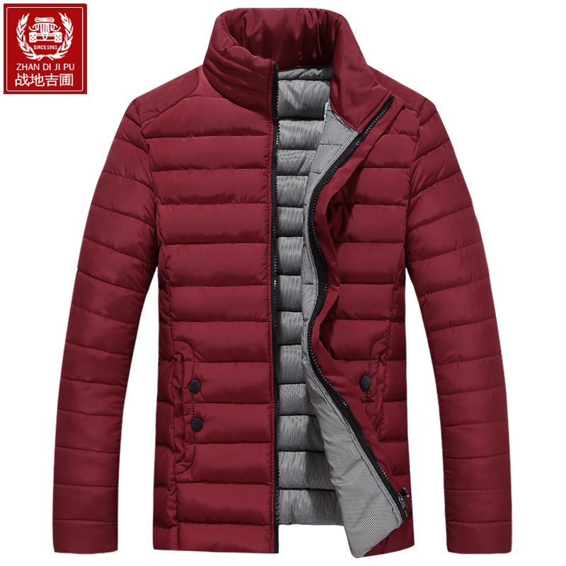 战地吉圃男士外套冬季新款韩版衣服短款男装冬装羽绒棉服棉袄棉衣