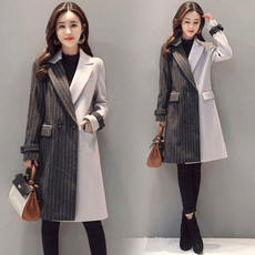 Deeply according to 2017 autumn new large size spring and autumn autumn long section slim woolen coat coat female 1067
