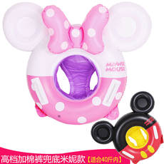 New children's swim ring Baby seat float ring Minnie Mickey comfortable seat 0-3-4 years old inflatable lifebuoy