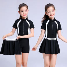 Children's swimwear Large children's girls Siamese skirt girls 6-8-12-15 years old students professional training swimwear