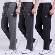 Spring and autumn thick section middle and old aged casual sports pants men's men's trousers plus fertilizer XL elastic cotton pants