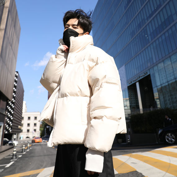 Winter Korean coat cotton jacket men's winter thick short cotton clothes men's tide loose bread lovers new INS