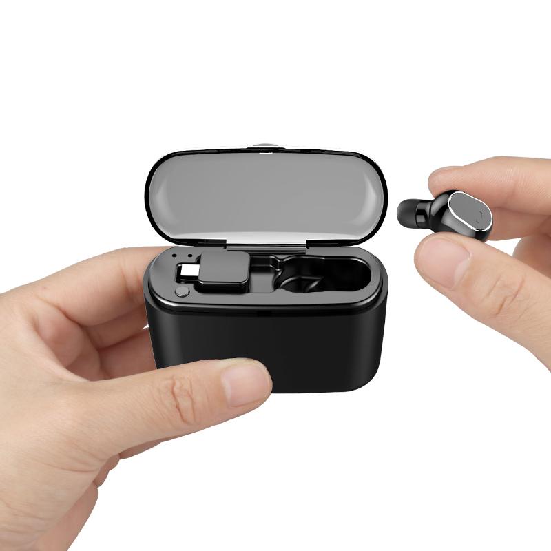 诺必行 M8隐形蓝牙耳机无线迷你超小型挂耳式运动开车单入耳塞微型头戴式超长待机适用oppo苹果vivo男女通用