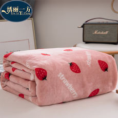 Winter blanket thick warm single dormitory student female coral fluff plush sheets flannel blanket Falais