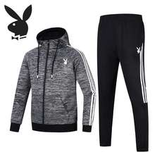 Autumn sports suit men's youth hooded casual sweater spring and autumn men's Korean version of the trend handsome two-piece suit