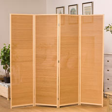 New Chinese Zen partition screen tea room simple mobile folding screen hotel hotel club bamboo art wood entrance door