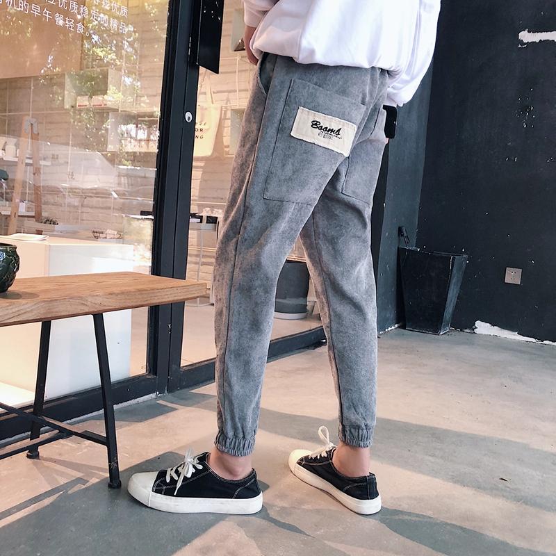 2019春季新款男士宽松九分裤休闲裤男韩版潮流修身束脚裤嘻哈裤子