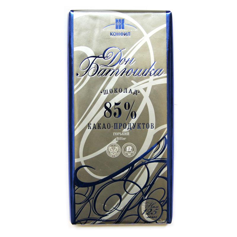 正宗俄罗斯Aksinya巧克力85%可可含量黑巧克力100g6元不限重包邮