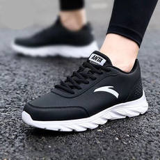Genuine Anta sports shoes men's running shoes 2018 winter new leather running shoes casual shoes women's travel shoes