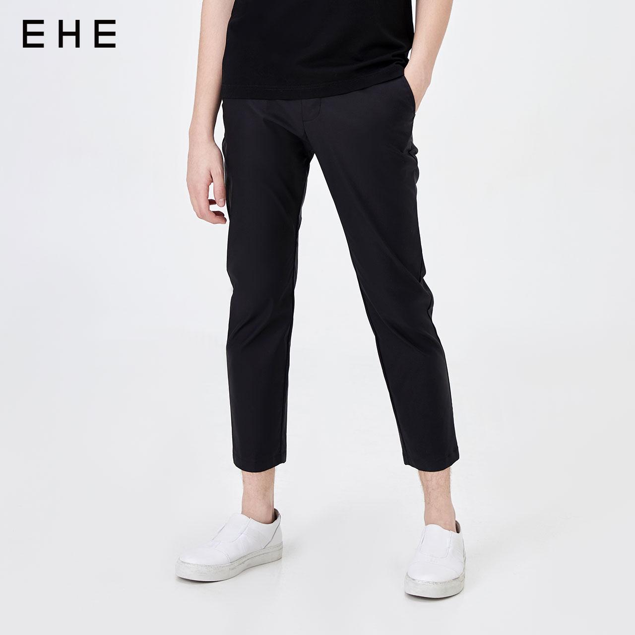 EHE男装 夏季新品束脚休闲裤男微弹小脚薄款休闲长裤66130172042