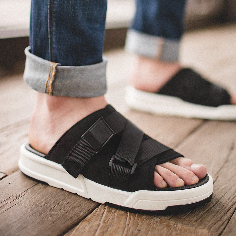 拖鞋男士2019新款夏季室外沙滩凉鞋两用韩版潮流个性时尚外穿凉拖