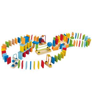 德国Hape 多米诺骨牌创意机关儿童大块木制积木宝宝智力益智玩具