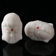 Pure natural ivory Bodhi carved vertical hole Guanyin 27*37mmdiy accessories separated beads single Bodhi beads