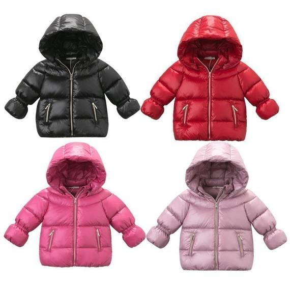 David Bella manufacturers new factory direct winter girls wear double hooded jacket 90% down jacket 1-7 years old