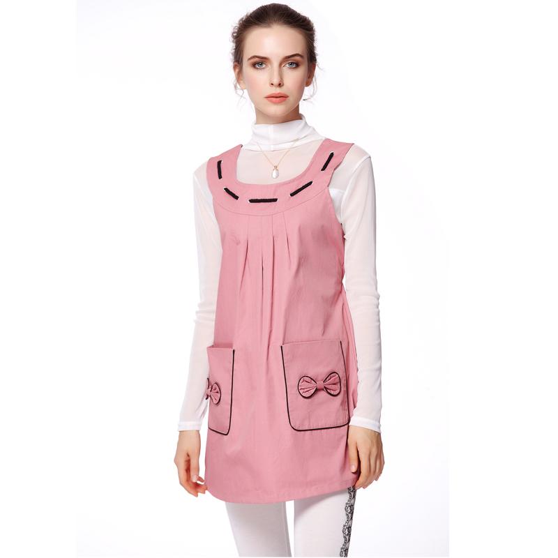 婧麒防辐射服装孕妇装新品怀孕期电脑电磁防辐射衣服连衣裙子马甲