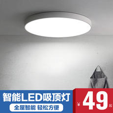 Modern minimalist led ceiling lamp ultra-thin round bedroom lamp living room balcony Nordic Tmall Elf smart lamps
