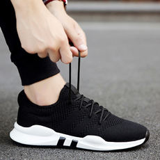 2019 new spring men's shoes men's sports and leisure running tide shoes Korean version of the trend of wild summer breathable mesh