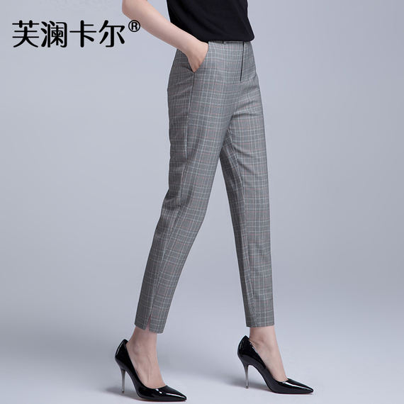 2018 summer casual pants female straight pencil pants Harlan nine pants trousers 9 points suit pants thin section pipe pants