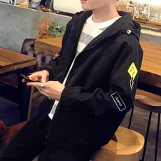 Spring new men's jacket Korean casual outerwear spring and autumn thin coat tooling jacket youth baseball clothing tide