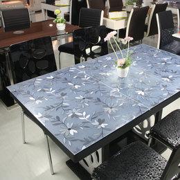 加厚3mm软玻璃PVC桌布防水防烫餐桌垫茶几垫2毫米透明磨砂水晶板
