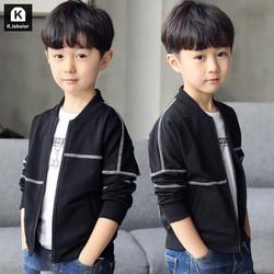 童装男童外套春装2018新款儿童中大童韩版男童春秋季夹克棒球服潮