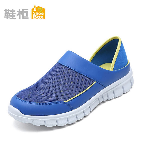 [Brand discount] SHOEBOX / Shoe cabinet Oasis genuine sports non-slip mesh breathable men's casual shoes