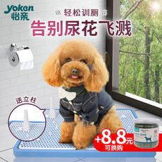 Dog toilet Teddy large medium and small dogs automatic pet dog supplies urinal squatting potty bowl gold hair flushing