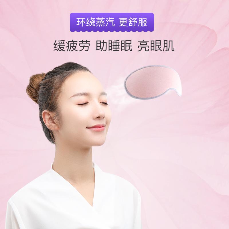 昕科蒸汽眼罩usb充电加热缓解眼疲劳遮光热敷黑眼圈睡眠发热护眼
