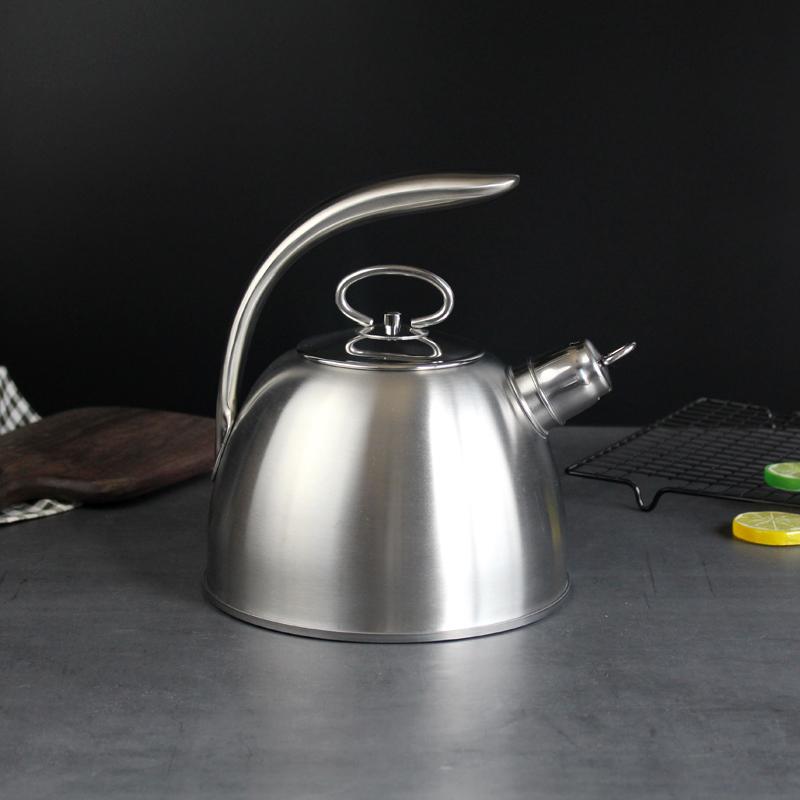 意式18/10不锈钢烧水壶304鸣笛大容量开水壶家用平底煤燃气电磁炉