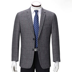 Middle-aged men's suit Ordos city wool suit business casual single spring single piece wool coat
