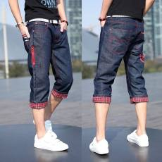 Casual student youth Slim pants, denim shorts, men's seven points, 7 points, 5 points, pants, men's thin section, loose large size