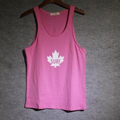健身背心男粉红色沙滩无袖砍袖夏季青年吊带绿蓝潮运动工字训练衫