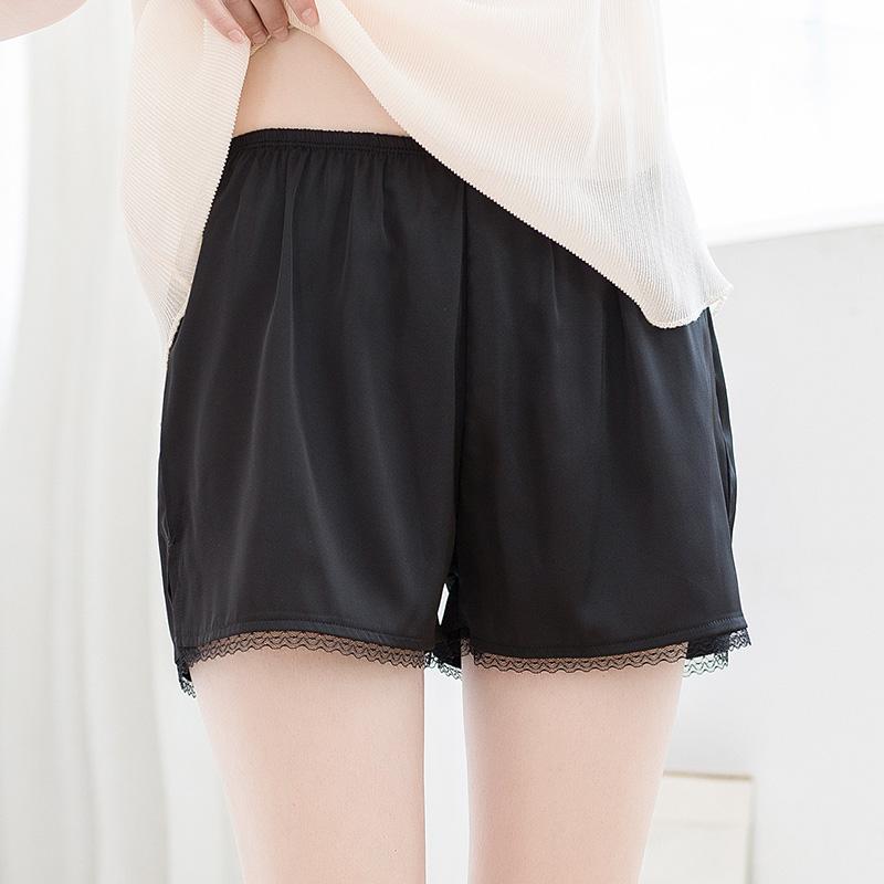 安全裤女防走光夏天薄款大码冰丝少女宽松蕾丝保险打底短裤可外穿