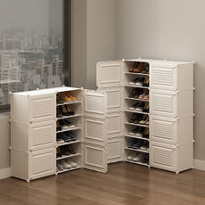 Shoe cabinet storage simple and economical dust-proof dormitory household storage storage door plastic multi-layer assembly shoe rack