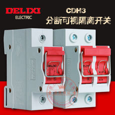 Delixi Isolation Knife Switch CDH3 Breaking Visual Isolation Switch Disconnect Manual Disconnect Switch